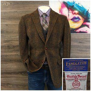 Pendleton Harris Tweed Wool Sport Coat Jacket